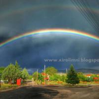 Η φωτογραφία της ημέρας: Εντυπωσιακό διπλό ουράνιο τόξο στην Ξηρολίμνη Κοζάνης