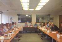 Συνάντηση με τον υπουργό κ. Σκουρλέτη Πάνο για το θέμα της μετεγκατάστασης των Αναργύρων και της Ακρινής