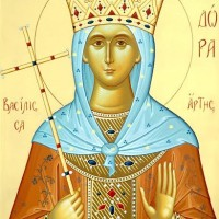 Ο εορτασμός της ανακομιδής των λειψάνων της Αγίας Θεοδώρας στον Ι.Ν. Αγίας Κυριακής Σερβίων