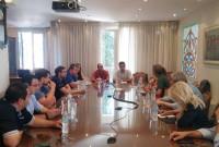 Συνάντηση του βουλευτή του ΣΥΡΙΖΑ Γ. Θεοφύλακτου με μέλη του ΕΒΕ Κοζάνης