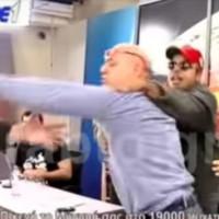 Θεσσαλονίκη: Εισβολή οπαδού και ξύλο σε απευθείας μετάδοση – Χαμός σε τηλεοπτική εκπομπή – Βίντεο