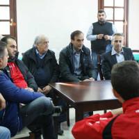 Συνάντηση του Βαγγέλη Πουρλιοτόπουλου με την ομάδα της ΑΕΠ Καραγιαννίων και της Ακαδημίας των Ακριτών Κοζάνης
