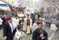 Πλήθος πιστών στη λιτάνευση της εικόνας του Αγίου Νικολάου στην Κοζάνη – Δείτε το βίντεο του KOZANILIFE.GR