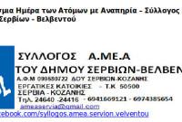 Παγκόσμια Ημέρα των Ατόμων με Αναπηρία – Σύλλογος ΑμεΑ Δήμου Σερβίων – Βελβεντού