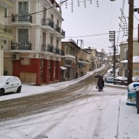 Δείτε πανέμορφες φωτογραφίες από τη χιονισμένη πλατεία «Τρία Πηγάδια» στη Σιάτιστα