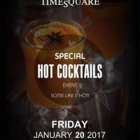 Ζεστά Cocktails το βράδυ της Παρασκευής στο TimeSquare για να κρατήσουν πολύ ψηλά την θερμοκρασία!