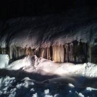 Εντυπωσιακοί σταλακτίτες από πάγο και πολύ χιόνι στο Πολυκάστανο Βοΐου! Δείτε φωτογραφίες