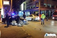 Κοζάνη: Τροχαίο ατύχημα στην οδό Γκέρτσου το βράδυ της Τετάρτης – Φωτογραφία
