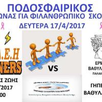 Ποδοσφαιρικός αγώνας με φιλανθρωπικό χαρακτήρα στον Βαθύλακκο Κοζάνης