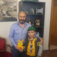 Ευχές για το Πάσχα με τους προσκόπους αντάλλαξε ο Δήμαρχος Εορδαίας