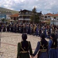 Με επιτυχία αναβίωσε «Ο Χορός της Ρόκας» στη Γαλατινή του Δήμου Βοΐου