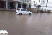 Ισχυρή καταιγίδα και χαλάζι στην πόλη της Κοζάνης! Ποτάμια οι δρόμοι από την ποσότητα νερού – Δείτε το βίντεο