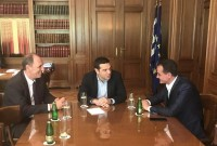 Η συμφωνία για τη ΔΕΗ στο επίκεντρο της συνάντησης του Αλ. Τσίπρα με τον Θ. Καρυπίδη – Τι ειπώθηκε παρουσία του Γ. Σταθάκη