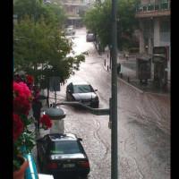 Ποτάμι η οδός Παύλου Μελά στο κέντρο της Κοζάνης! Δείτε φωτογραφίες