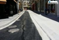 Ολοκληρώθηκαν οι εργασίες στην οδό Ιπποκράτους – Δείτε φωτογραφίες