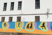 Όμορφο γκράφιτι από ομογενή της Αμερικής στο Δημοτικό σχολείο Βελβεντού