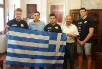 Στον Δήμαρχο Εορδαίας η Ομάδα F1 του Μουσικού Σχολείου Πτολεμαΐδας πριν την αναχώρησή της για τη Μαλαισία