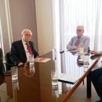 Συνάντηση Δημάρχου Βοΐου με τον Πρόεδρο του Ιδρύματος Παπαγεωργίου