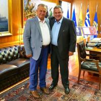 Συνάντηση του βουλευτή του ΣΥΡΙΖΑ Κοζάνης Γ. Ντζιμάνη με τον Υπουργό Άμυνας Πάνο Καμμένο