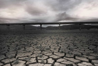 Η φωτογραφία της ημέρας: Περπατώντας στη μέση της λίμνης Πολυφύτου χωρίς σταγόνα νερό