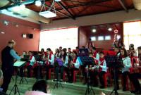 Οι «μικροί» μαθητές – δόκιμα μέλη της Φιλαρμονικής του Δήμου Κοζάνης στην Μεθώνη Πιερίας