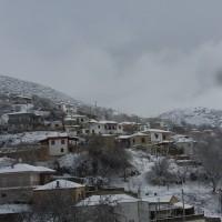 Πανέμορφο λευκό σκηνικό στον Μεταξά Κοζάνης – Δείτε τις φωτογραφίες