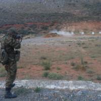 Εκτέλεση βολών αντιαρματικών όπλων, πολυβόλων, αντιαεροπορικών πυροβόλων και όλμων στο πεδίο βολής στο Μεσόβουνο Εορδαίας