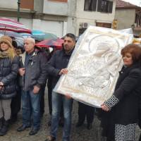 Υποδέχτηκαν την Ιερή Εικόνα της Παναγίας της Ελεούσας στη Σιάτιστα