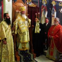 Γιορτάστηκε η Τετάρτη της Διακαινησίμου στο Μητροπολιτικό Παρεκκλήσι του Αγίου Βαραδάτου Κουβουκλίων με Αρχιερατική Θεία Λειτουργία