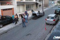 Κοζάνη: Τούμπαρε αυτοκίνητο στην οδό Σμύρνης αφού χτύπησε σε παρκαρισμένο αμάξι – Δείτε φωτογραφίες
