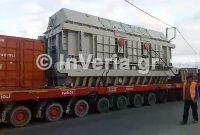 Εντυπωσιακή μεταφορά γεννήτριας/μετασχηματιστή 500 τόνων μέσω Βέροιας στην Πτολεμαΐδα – Δείτε το βίντεο