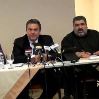 Για πρωτοφανή επίθεση στη Δυτική Μακεδονία από την κυβέρνηση έκανε λόγο ο Πάνος Καμμένος από την Κοζάνη
