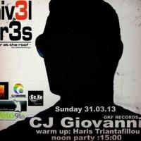 Κυριακή 31 Μαρτίου στο Nivel Tres Bar: CJ Giovanni…