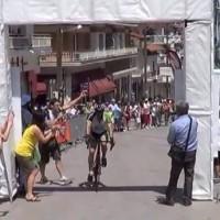 Ο Τερματισμός με τους νικητές του 8ου Πανελλήνιου Ποδηλατικού Γύρου στα Σέρβια