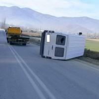 Εκτροπή φορτηγού λόγω παγετού στην Αναρράχη Εορδαίας