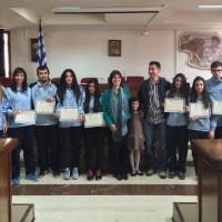 Τους αθλητές της Εορδαϊκής Δύναμης υποδέχθηκε η δήμαρχος Εορδαίας