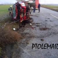 Δείτε φωτογραφίες από το θανατηφόρο τροχαίο ατύχημα στο 18ο χλμ. της Π.Ε. Οδού Πτολεμαΐδας – Αμυνταίου