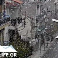 Ξεκίνησε χιονόπτωση στην πόλη της Κοζάνης! Δείτε το βίντεο του KOZANILIFE.GR