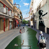 «Ποταμάκι» κατάλληλο για ψάρεμα η οδός Ιπποκράτους στην Κοζάνη! Δείτε τη χιουμοριστική φωτογραφία