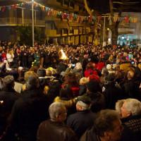 Η εμφάνιση στην πλατεία και το γλέντι στο φανό Λάκκο τ' Μάγγαν το βράδυ του Σαββάτου – Δείτε φωτογραφίες