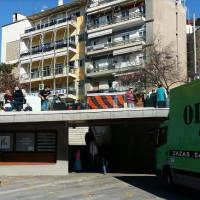 Ξεκίνησαν οι προετοιμασίες για το Πάρτι Νεολαίας – Μπροστά από την Εθνική Τράπεζα η εξέδρα