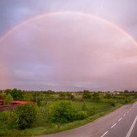 Η φωτογραφία της ημέρας: Ένα πανέμορφο ουράνιο τόξο στον ουρανό της Κοζάνης