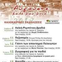 Οι καλοκαιρινές εκδηλώσεις 2018 στον Πελεκάνο Βοΐου