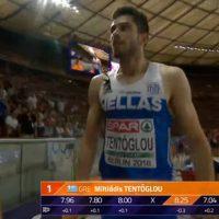 Πρωταθλητής Ευρώπης στο μήκος ο Μίλτος Τεντόγλου με άλμα στα 8,25!