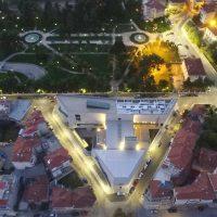 Νέα Βιβλιοθήκη, Δημοτικός Κήπος και Ωδείο Κοζάνης από ψηλά, σε μια φωτογραφία!