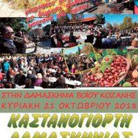 Την Κυριακή 21 Οκτωβρίου η Καστανογιορτή στη Δαμασκηνιά Βοΐου