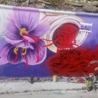 «Άνθισε» ο τοίχος του Συνεταιρισμού Κροκοπαραγωγών με ένα εντυπωσιακό γκράφιτι – Τι λέει ο 24χρονος δημιουργός του – Φωτογραφίες