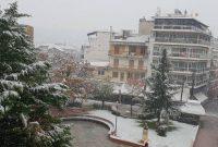 Πυκνή χιονόπτωση στα Γρεβενά – Δείτε φωτογραφίες