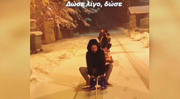 Μετέτρεψαν το δρόμο στην Βλάστη σε αυτοσχέδια πίστα – Δείτε το βίντεο