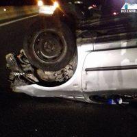 Τροχαίο ατύχημα στην Εγνατία έξω από την Κοζάνη – Ανατροπή αυτοκινήτου με 2 επιβάτες – Δείτε φωτογραφίες